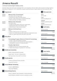 Makeup Artist Resume: Samples And Full Writing Guide [20+ ... Makeup Artist Resume Sample Monstercom Production Samples Templates Visualcv Graphic Free For New 8 Template Examples For John Bull Job 10 Rumes Downloads Mac Why It Is Not The Best Time 13d Information Awesome Cv