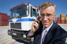 100 Truck Phone Portrait Of Smiling Businessman Talking On Cell Phone Next To Truck