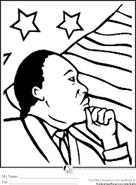Printable Coloring Picture Of Martin Luther King Template Large Size