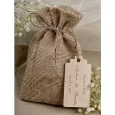 Rustic Chic Burlap Hessian Vintage Wedding Favour Bag