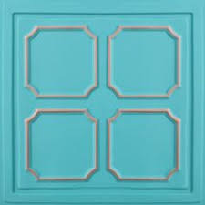 24x24 Pvc Ceiling Tiles by Vintage Ceiling Tile Mint Green Framed Metal By Bridgewoodplace