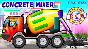 100 Cement Truck Video Concrete Mixer Mixer Kids Real City