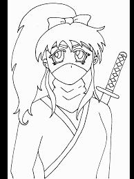 Ninja Japan Coloring Pages