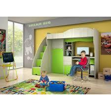 lit bureau armoire combiné lit mezzanine superposé combiné avec bureau et armoire vert conte 1