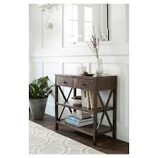 owings console table 2 shelf espresso threshold target