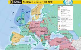 Where Did The Lusitania Sunk Map by Mcneil High World History Wwi Map