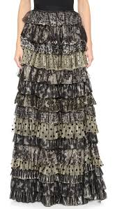 tiered maxi skirt fashion skirts