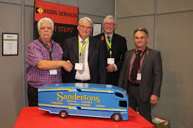 Kidd's Removals Presented With Model Truck Following Winning Bid