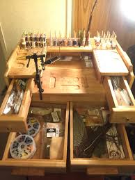 Fly Tying Table Woodworking Plans by Fly Tying Station The Old Rednek Workshop Pinterest Fly