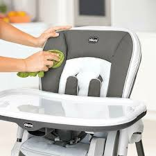 Chicco Polly Multi Position Foldable Portable Wheeled High Chair, Latte  Brown