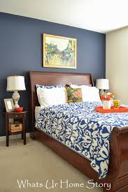 Navy And Coral Bedroom Decor