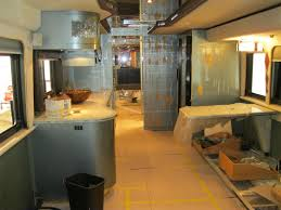 The Woody RV Interior Remodel Before Facing Galley At OCRV Paint And Service