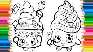 Coloring Pages Cupcake Queen Shopkins Book Videos For Children Learn Colors Kids