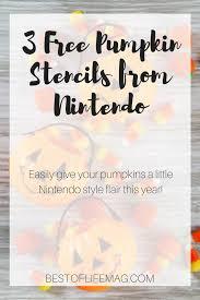 Nintendo Pumpkin Patterns by Free Pumpkin Stencil