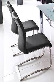 2 x konferenzstühle esszimmer stühle 2 x schwingstuhl schwarz 2907