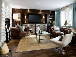 Transitional Living Room Leather Sofa by Make A Brown Living Room Living Room In Brown U2013 60 Ways You