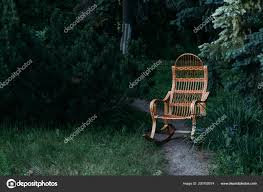 Wicker Rocking Chair Made Rattan Old Rocking Chair Made Wood ...