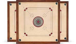 Front Photo Of Three Beautiful Carrom Boards Overlapping