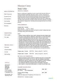 Banking Resume Format Samples For Stupendous Sample Banker Bank Loan Officer Template