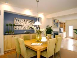 Newest Contemporary Dining Room With Vibrant Blue Accent Wall