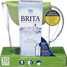 Brita Water Filter Faucet Walmart by Brita Pacifica Water Filtration Pitcher Green 10 Cup Walmart