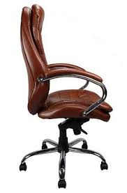 Professional High Back Leather Faced Chair Side View
