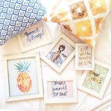 Fashion Blog Preppy Room Decor Prep Blogger Gallery Wall Apartment Home And Office