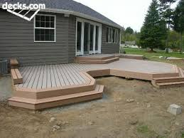 Patio And Deck Combo Ideas by Low Elevation Deck Picture Gallery Outside Projects Pinterest
