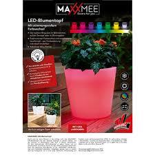 maxxmee led blumenkübel 28 cm weiß mit farbwechsel versch formen