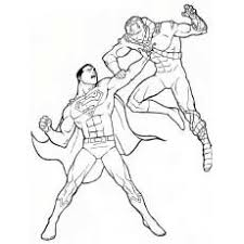 Superman Fighting Enemy Coloring Pages