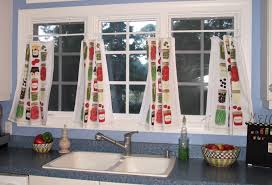 Kitchen Curtains Elegant Blue Green Modern Valance And Tier