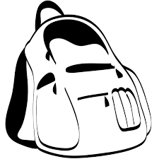 School Supplies Clipart Black and White
