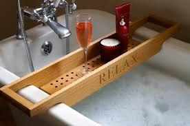 Bath Caddy With Reading Rack by Wood Bath Rack Epienso Com