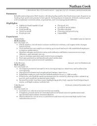 Resume Sample For Restaurant Server Examples Shift Leader Job Description Equipped Imagine Food And