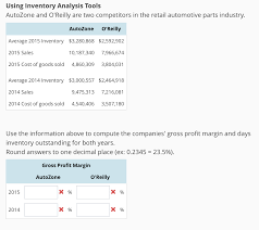 Solved: Using Inventory Analysis Tools AutoZone And O'Reil ... Oreilly Auto Parts 2016 Annual Report 2018 Electronics Store 2802 S Buckner Oreilly Auto Parts Deals Cherry Berry Coupon Coupon Oreilly Auto Parts The 66th Autorama O Reilly Code Car Repair 23840 Fm1314 Porter Tx Mobil 1 Syn Motor Oil Tacoma World Vancouver Philliescom Shop