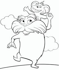 How About To Color This Beautiful Picture Of The Lorax With Pip On His Shoulders They Are Characters Upcoming Movie