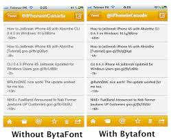 Customize Fonts Jailbroken iPhone 4S With BytaFont Cydia