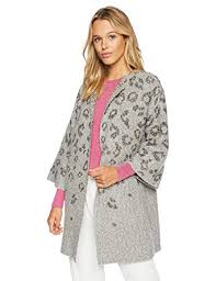 Cupcakes And Cashmere Womens Kline Tonal Leopard Cardigan W Bell Sleeves At Amazon Clothing Store
