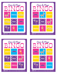 Printable Bingo Cards CINCO DE MAYO Drinking Game