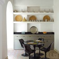 Use Open Shelving At Eye Level In A Compact Kitchen To Create The Illusion Of Space