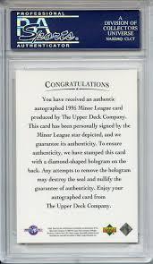 The Upper Deck Company Llc Linkedin by Lot Detail 1995 Upper Deck Minor League Autographs Derek Jeter