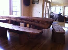 Reclaimed Wood Dining Room Table With Bench Houzz Iron Base Etsy Concept Of