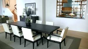 Dining Table Carpet Black Narrow Tables With Leaves Grey And White Interior Color For
