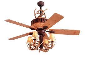 Monte Carlo Deer Lodge Rustic Vintage Ceiling Fan