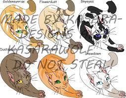 warrior cat names warrior cats closed by kasara designs on deviantart