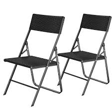 SONGMICS Folding Chairs, Set Of 2, Garden Chairs With Rattan-Like ... Folding Garden Chair Black Torre Sol 72 Outdoor Darwen Wayfaircouk Cover Rentals Nh Wedding Sash Tables And Chairs 1888builders Plastic Foldable With Metal Legswhite Simple Tasures Stationary Cversation With Strap Whosale Americana Chairswhite Wood Drawing At Getdrawingscom Free For Personal Use Lakes Region Tent Event On Sale White Target Tc Office Morph Polypropylene 9 Splendid Fold Up Gallery Home Patio Design