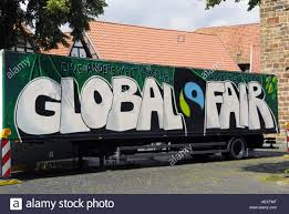 Fair Trade Truck Advertisement Graffiti Art Stock Photo: 13709495 ...
