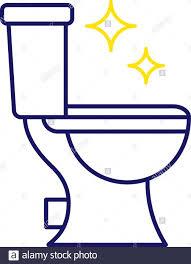 wc reinigung farbe symbol badezimmer reinigung isolierte