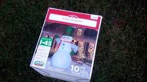 9ft Christmas Tree Walmart by Gemmy Inflatable 10ft Snowman Unboxing And Test And Review From