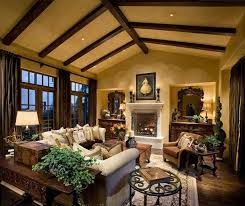 Mesmerizing Rustic Cottage Living Room Design Ideas With Fixture Hidden Ceiling Light Also Classy Fireplace As
